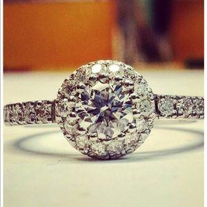 Custom 1k diamond engagement ring